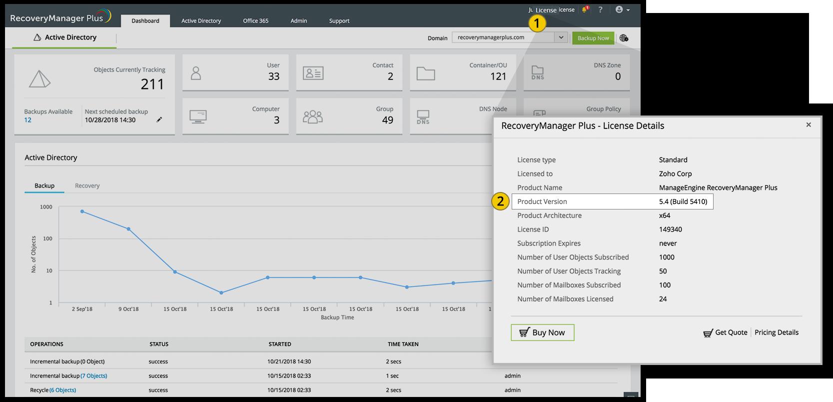 Upgrade ManageEngine RecoveryManager Plus via service-pack