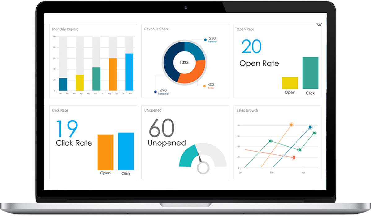 Bring your data to life with rich visualization and interactive dashboards