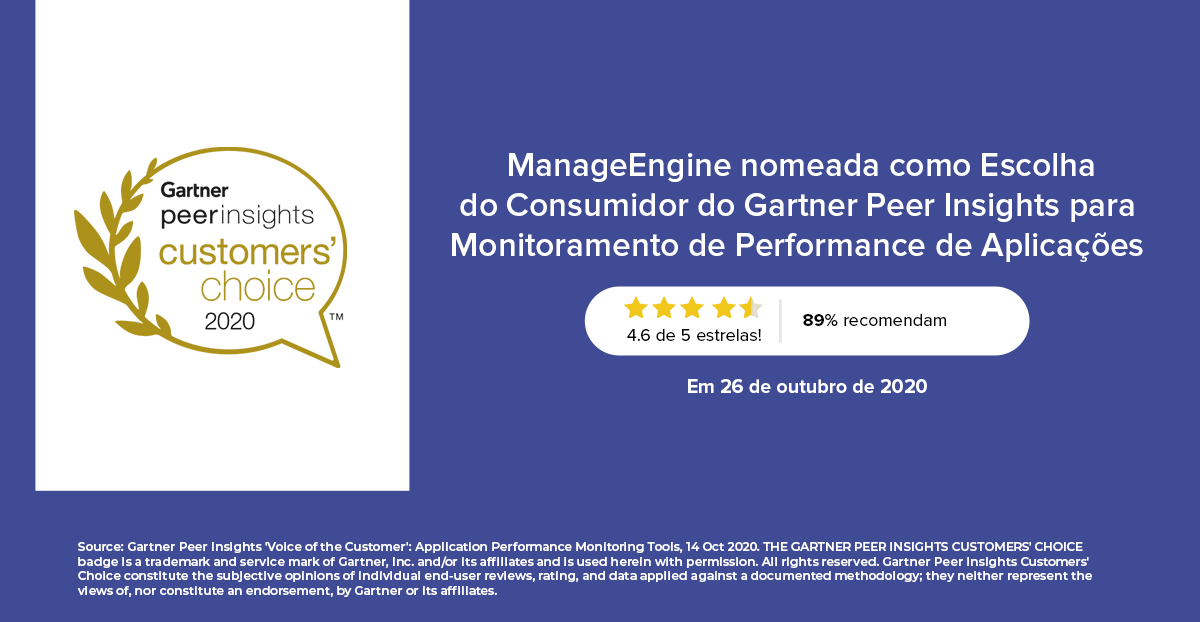 ManageEngine Applications Manager Gartner Peer Insights