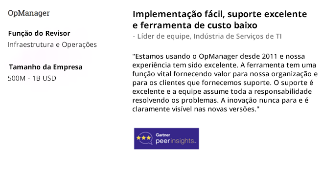 OpManager - Easy Implementation & Excellent Support - Team Lead