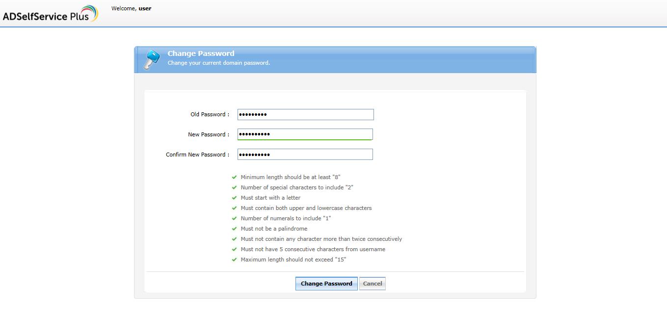 Desktop password policy enforcer