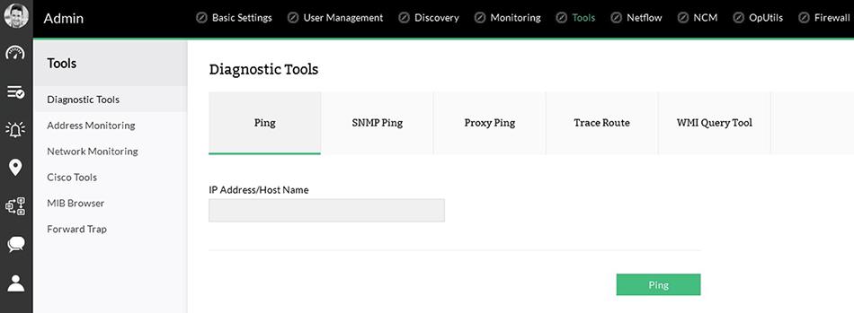 Integrierte Tools zur Fehlerbehebung im Netzwerk