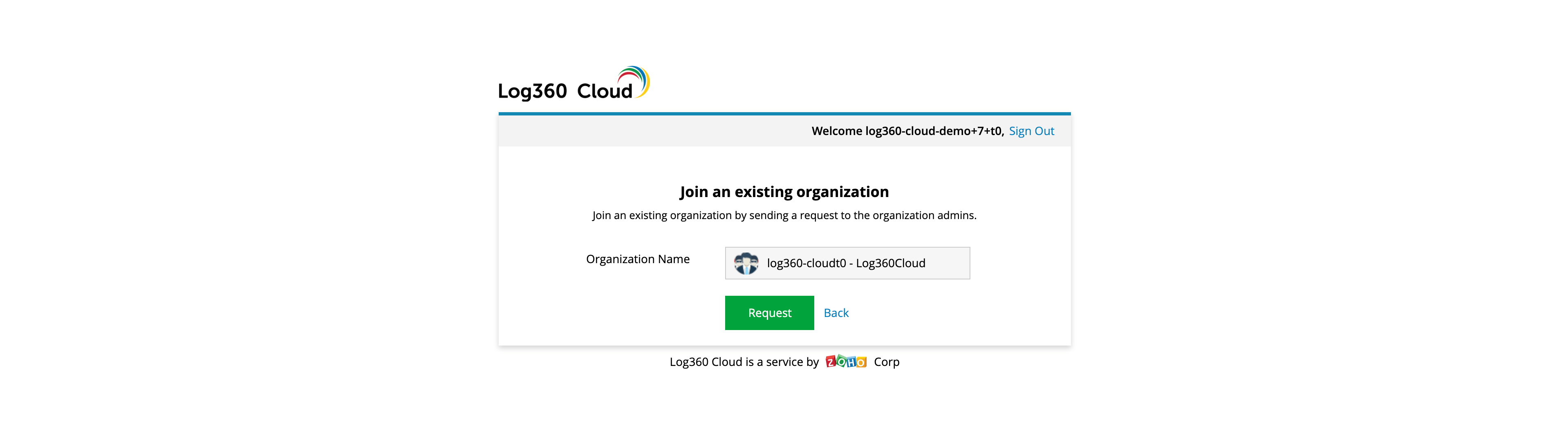joining-an-existing-organization-log360-cloud-demo