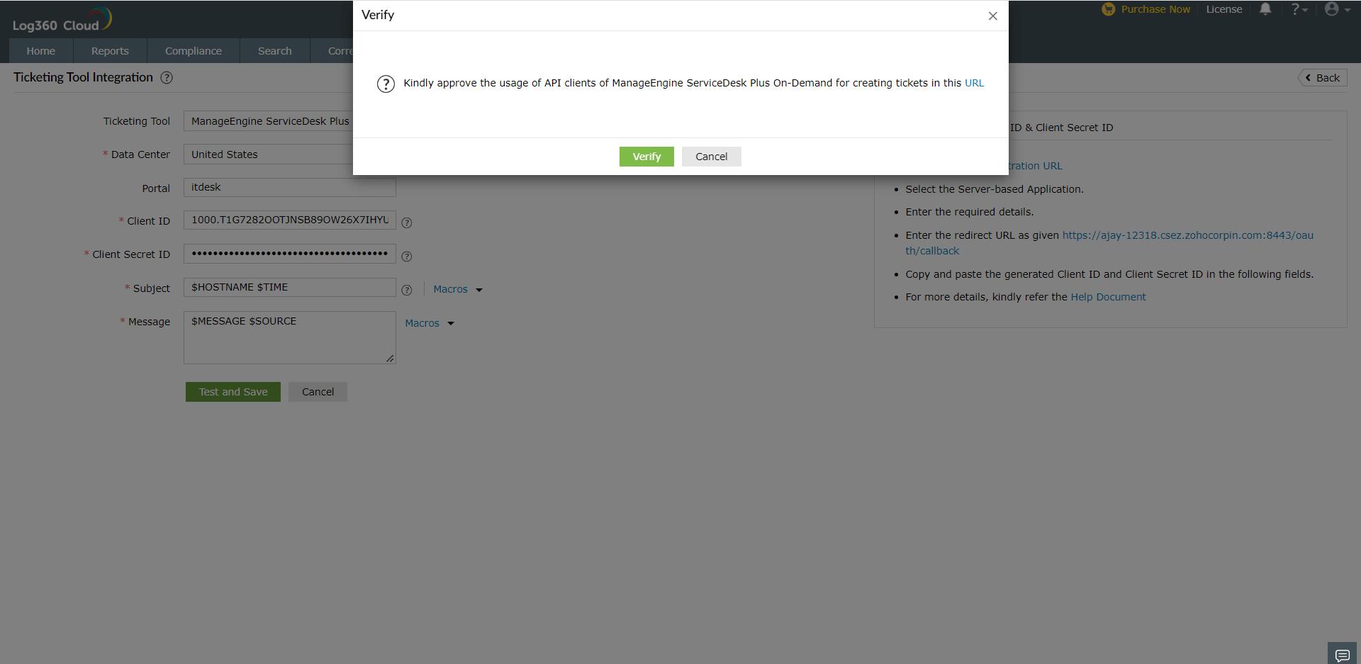 ticketing-tool-Integration