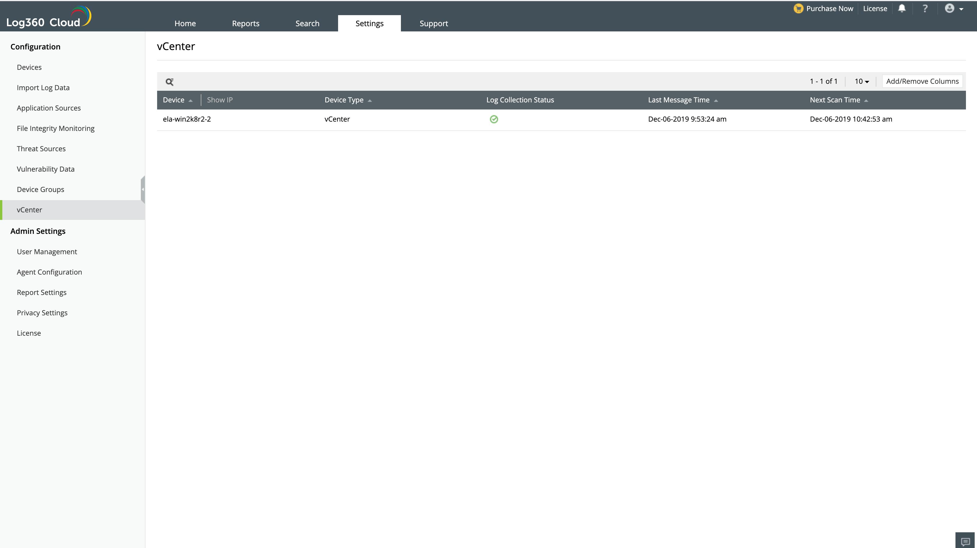 Import log data