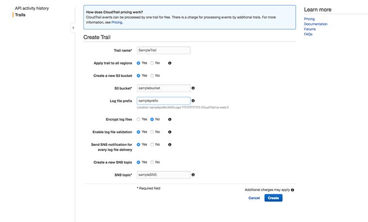 Logging setup for AWS CloudTrail logs| Cloud Security Plus