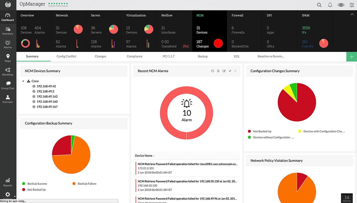 Netzwerkmanagement - ManageEngine OpManager