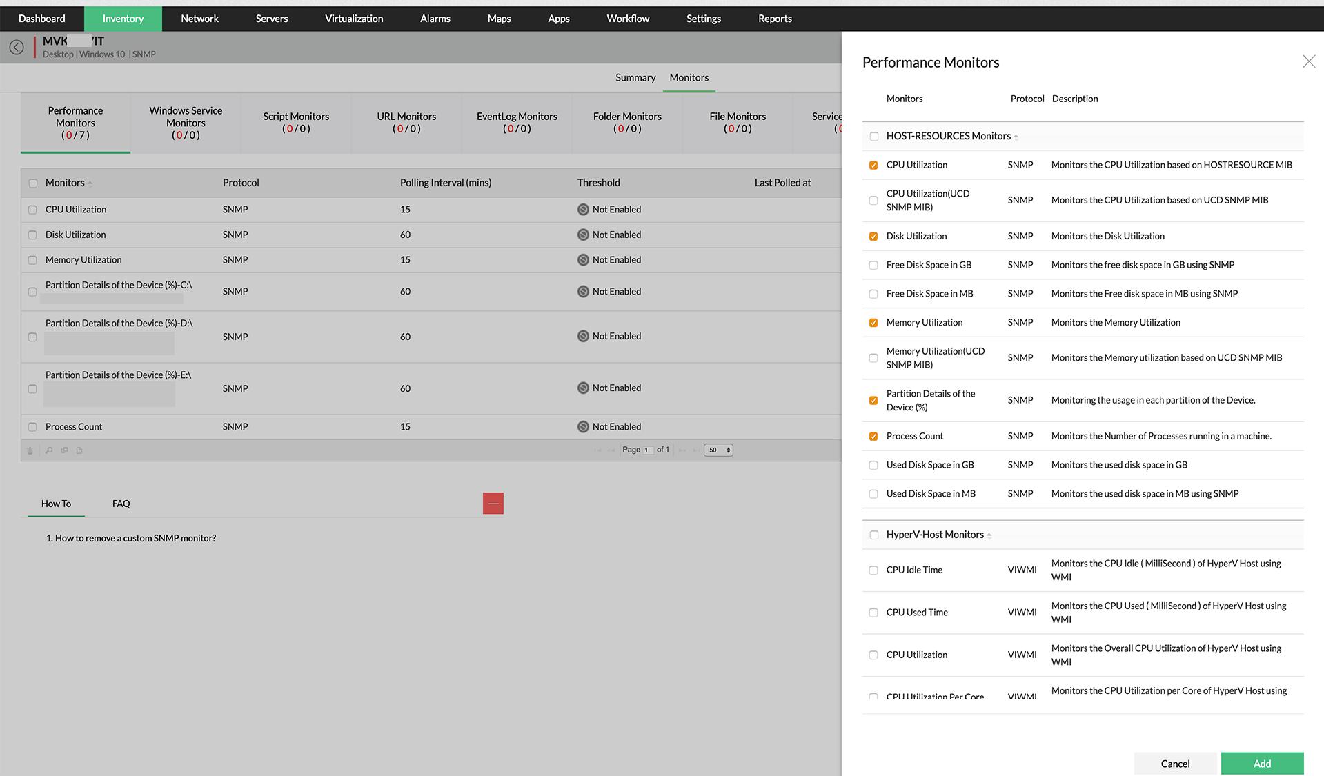 CPU überwachungstool - ManageEngine OpManager