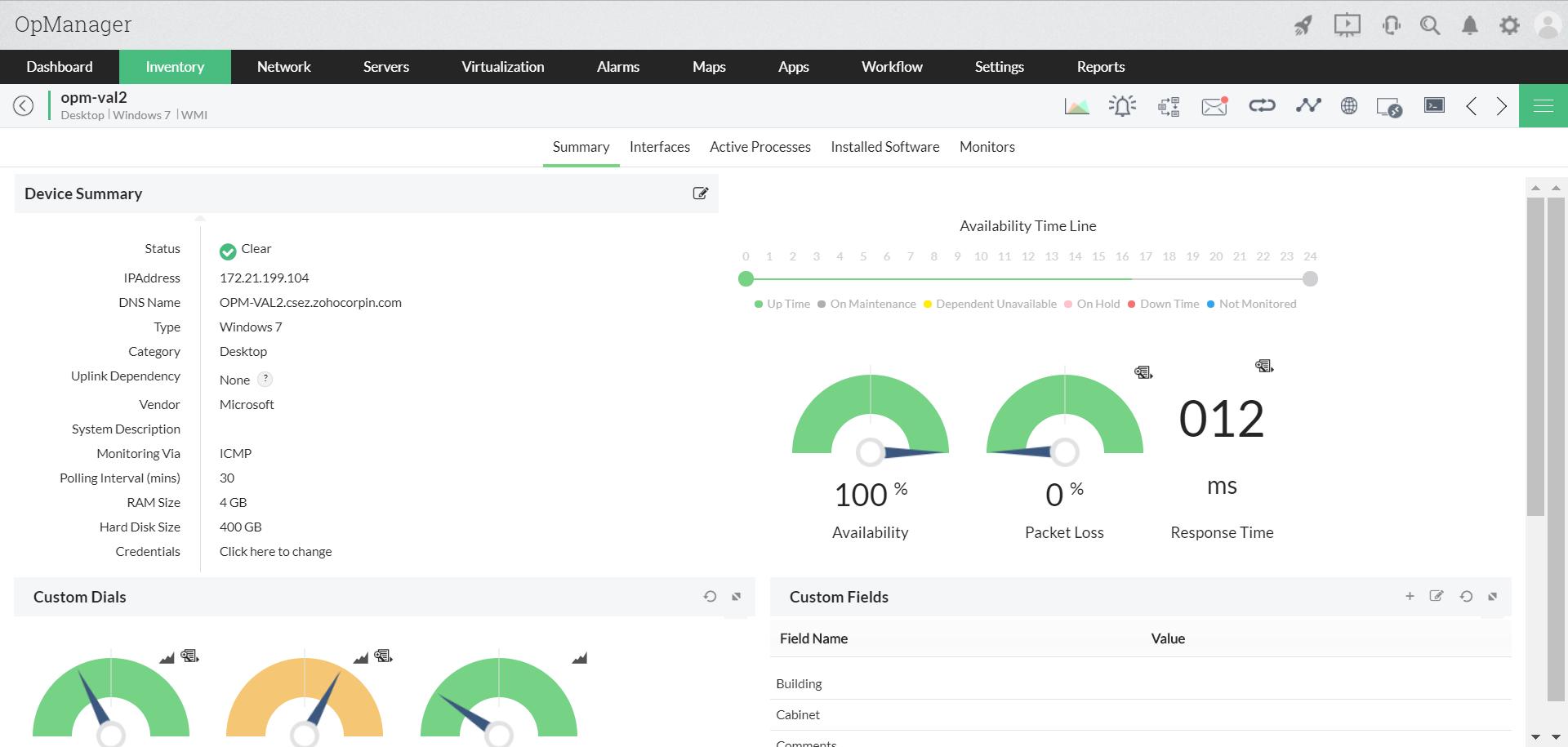 Netzwerk überwachen tool - ManageEngine OpManager