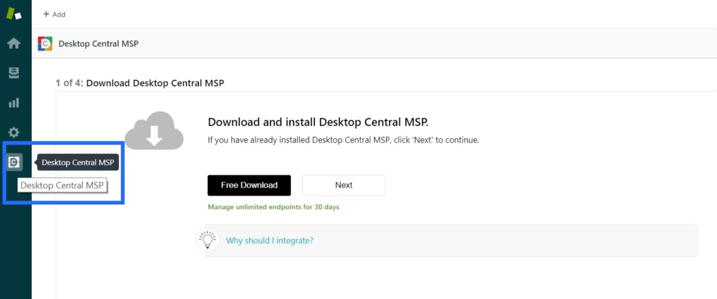 Configure Desktop Central MSP App