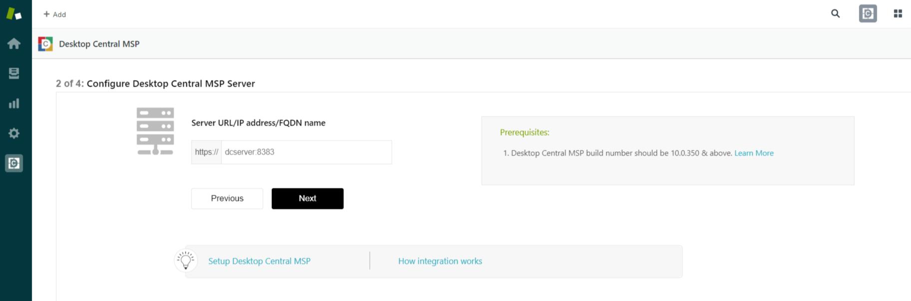Configure Desktop Central MSP Server