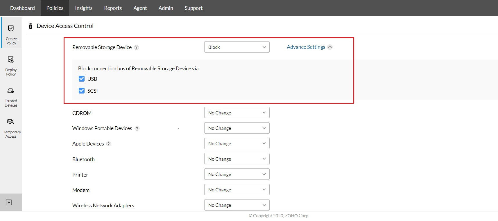 Bad USB security with ManageEngine Device Control Plus