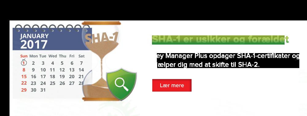 SHA-1 er usikker og forældet