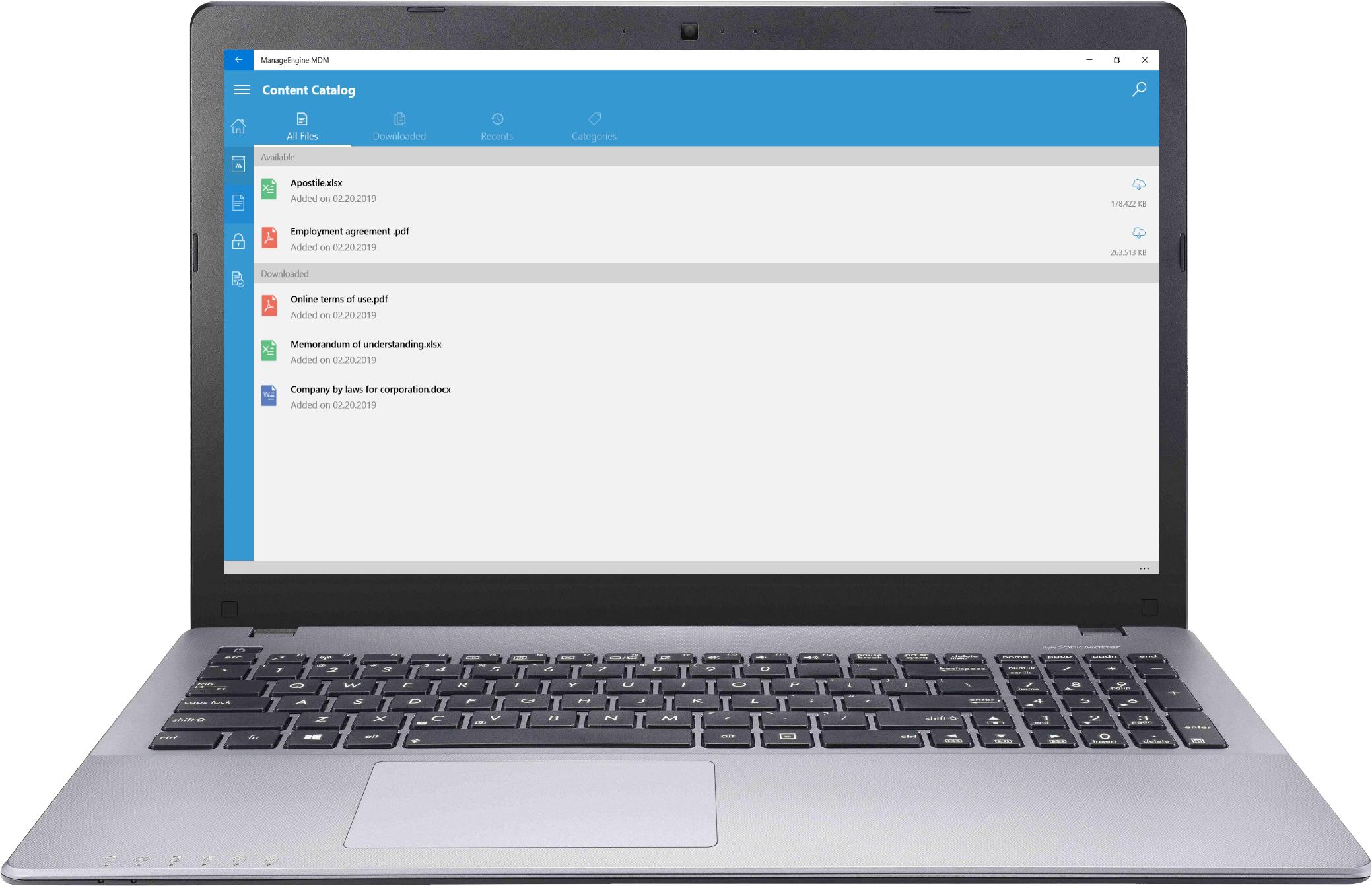 windows 10 laptop management