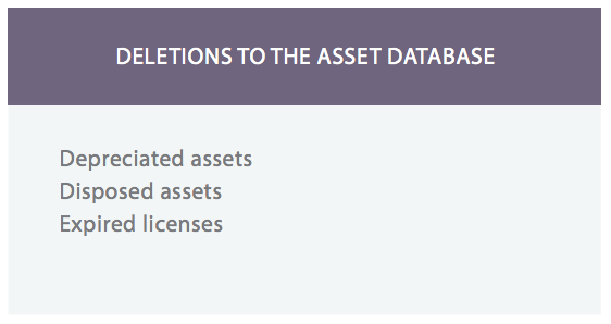 Asset database software : Delete or remove it assets