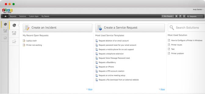 Tilpasset IT-selvbetjeningsportal