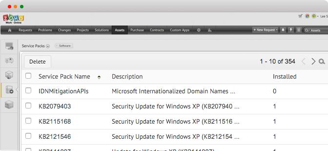 Administrer servicepakker i ServiceDesk Plus