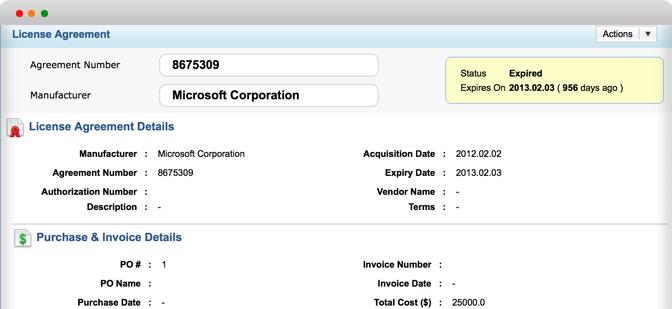 Dashboard til software-aktivadministration