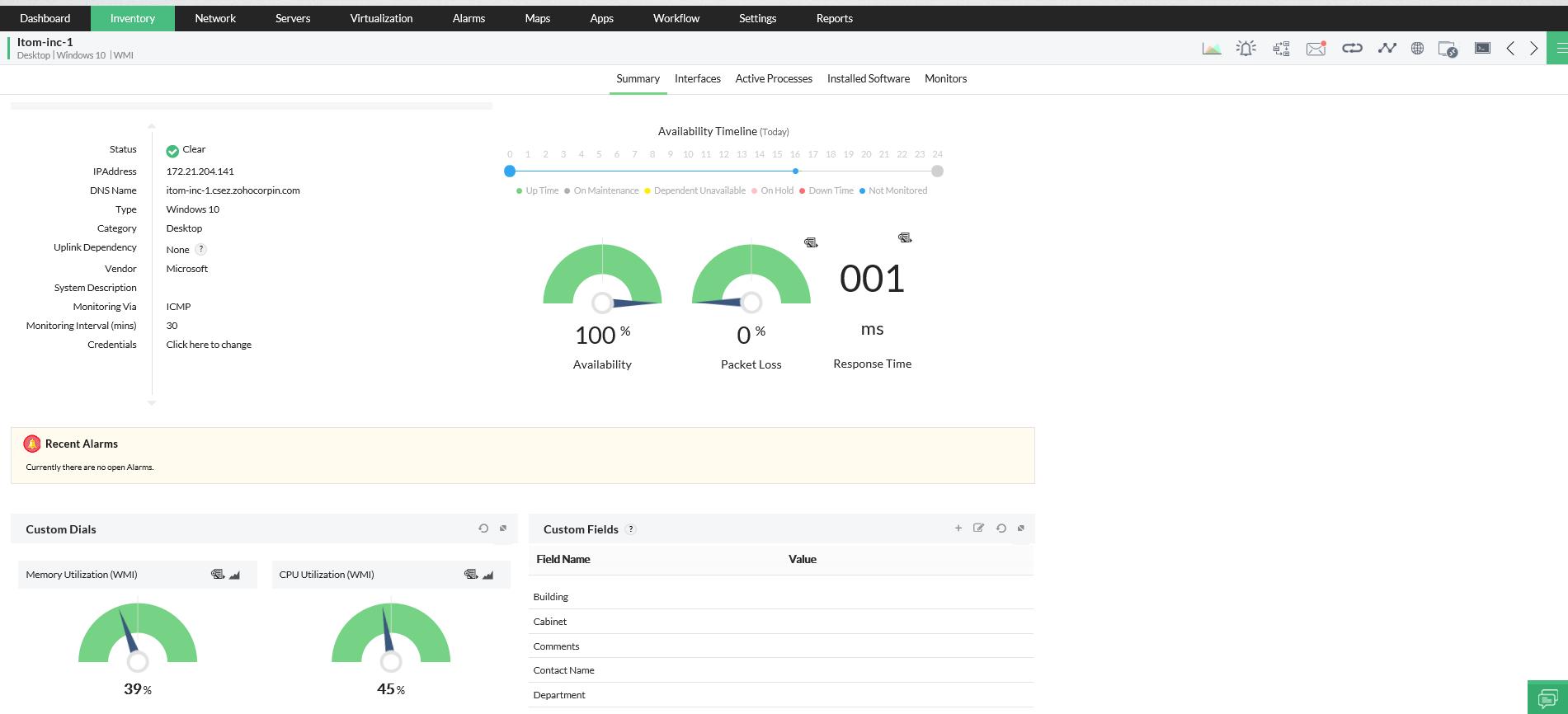 Software para monitorear el rendimiento de la red - ManageEngine OpManager