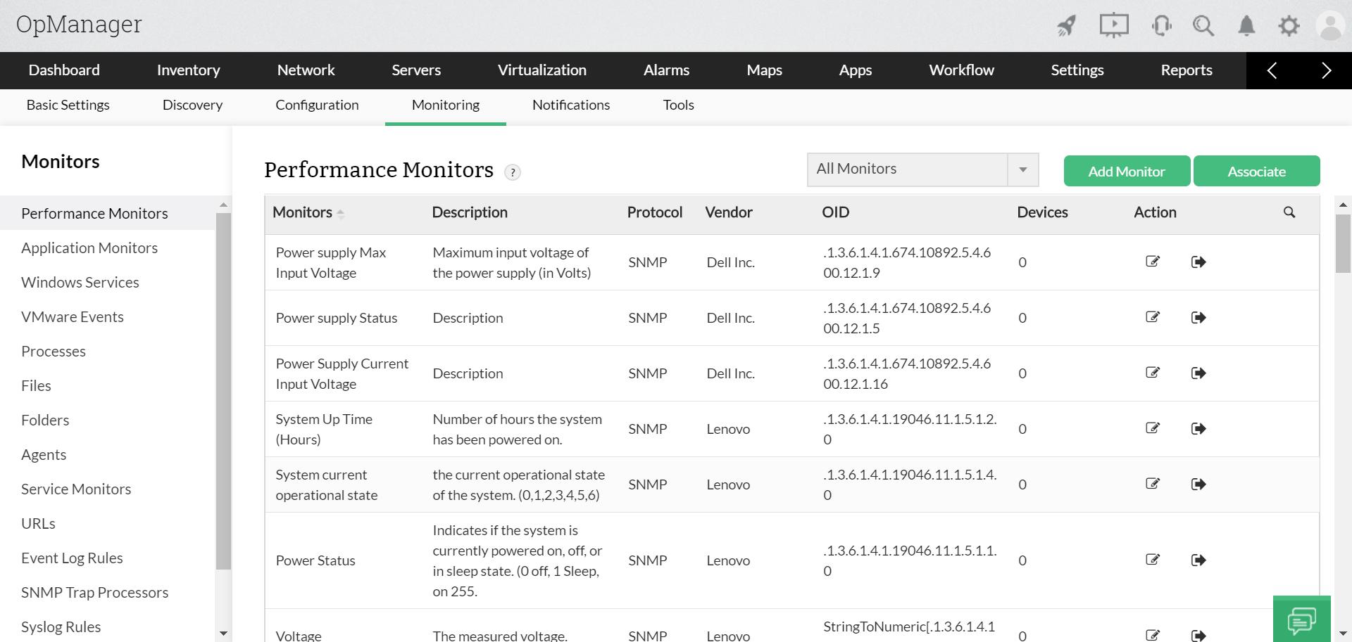 Monitorizar el rendimiento de la red  - ManageEngine OpManager