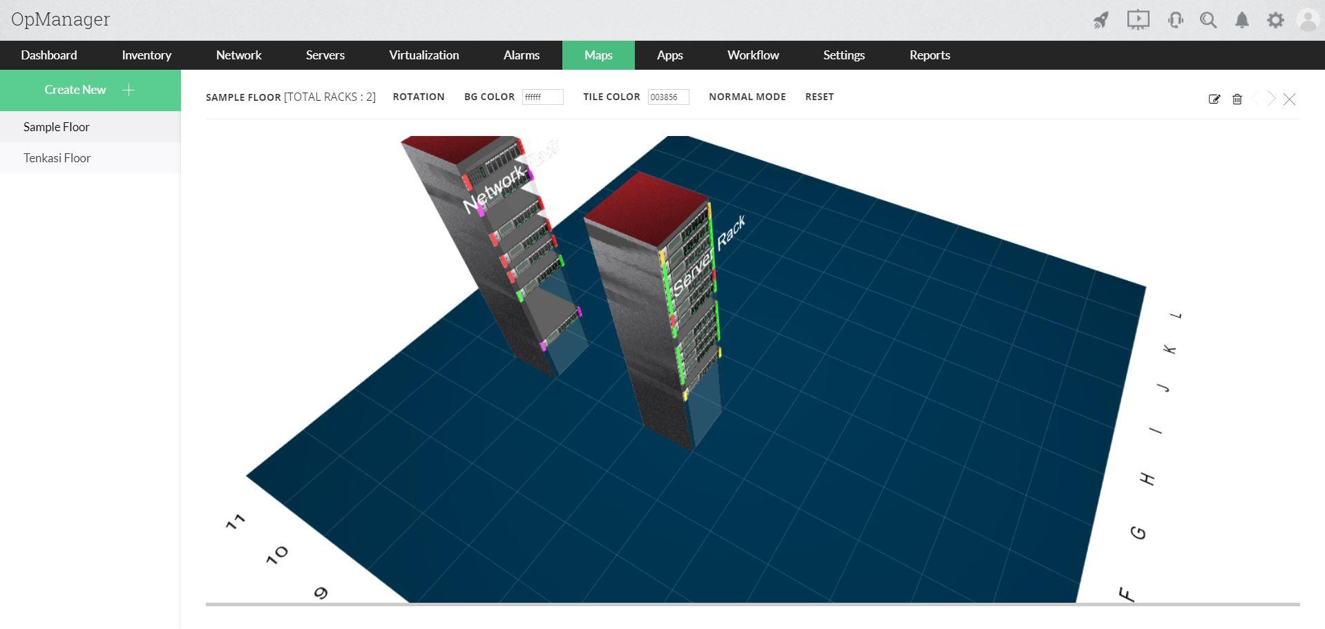 Herramienta de mapeo de redes - ManageEngine OpManager