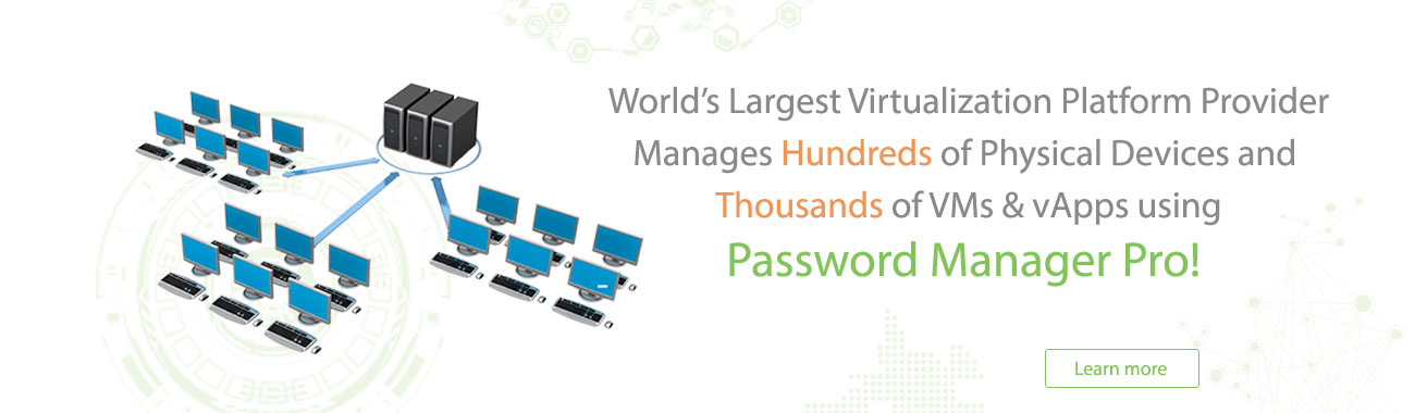 Password Manager Pro - Virtualization Platform