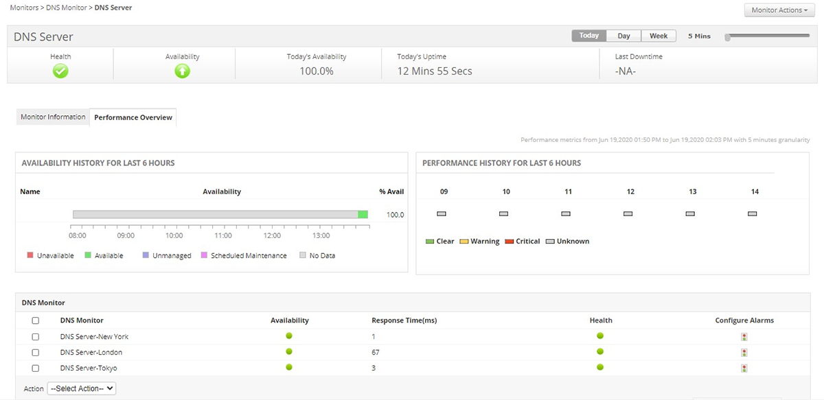 DNS Performance Monitoring - ManageEngine Applications Manager