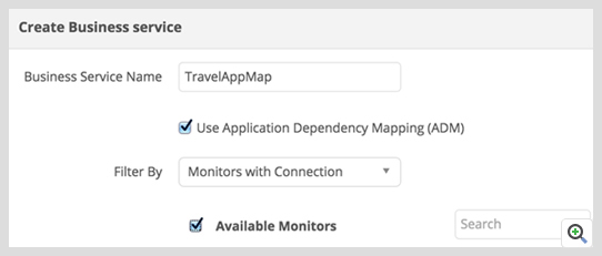 Design a business service dependency map using Application Discovery Tools - ManageEngine Applications Manager