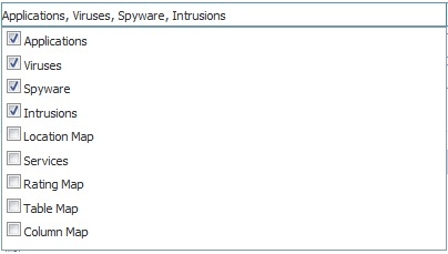 SonicWALL IPFIX receive static flow