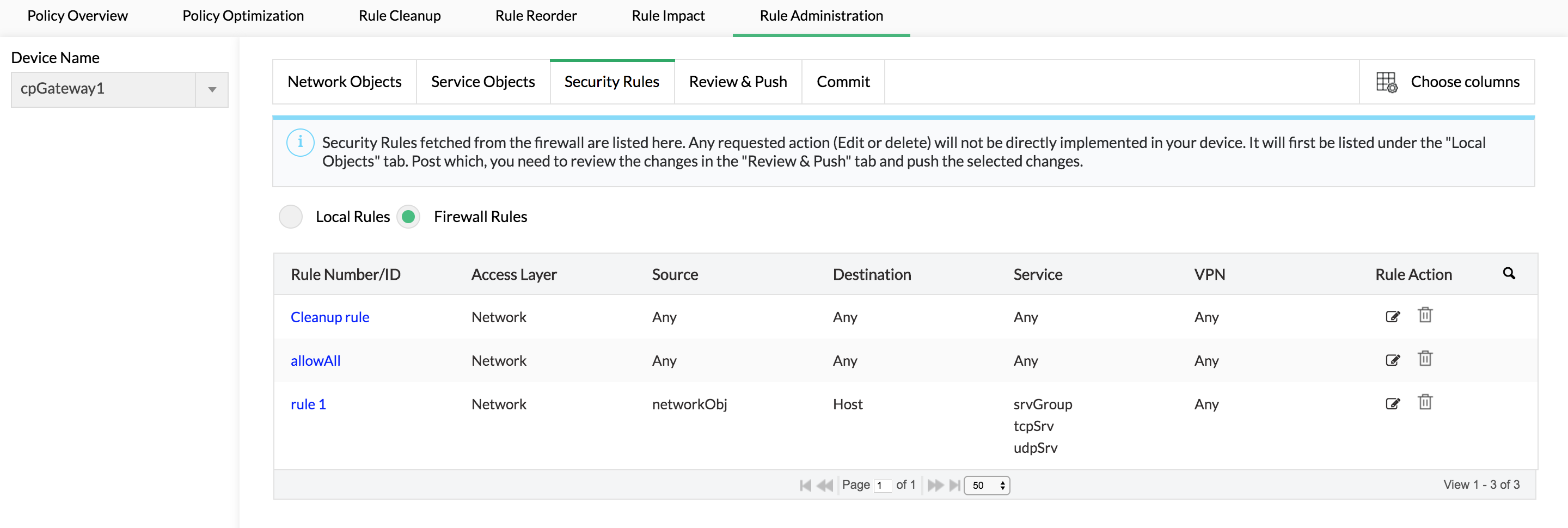 Administer firewall rules & policies - Configure firewall rules ManageEngine Firewall Analyzer