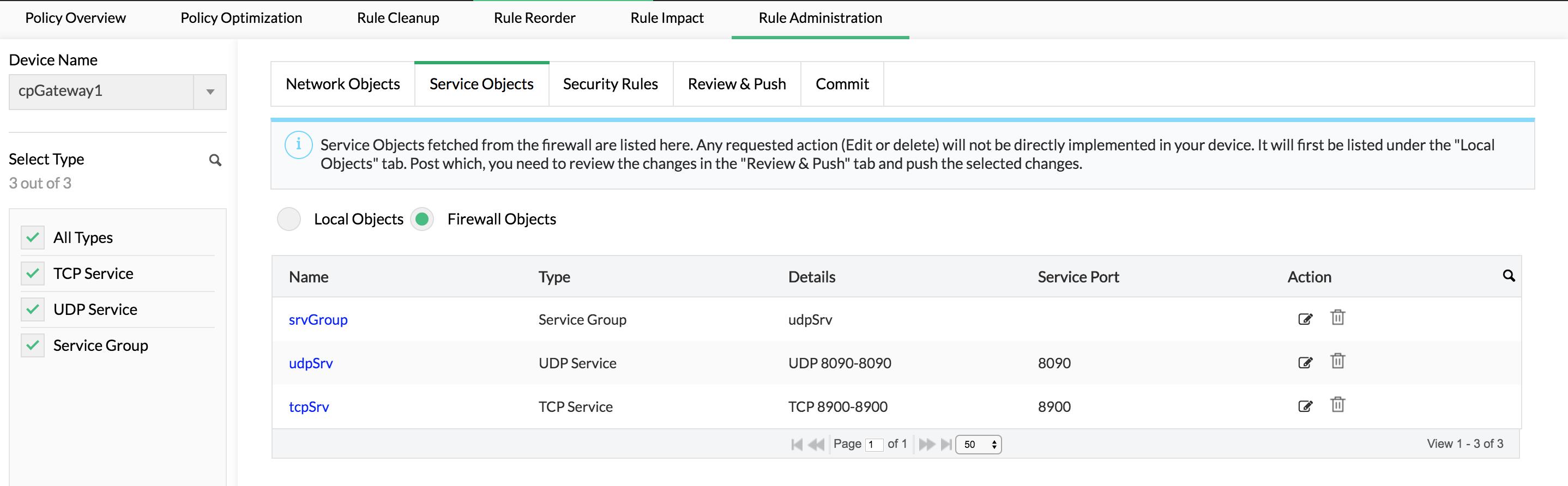 Add service & network objects - ManageEngine Firewall Analyzer