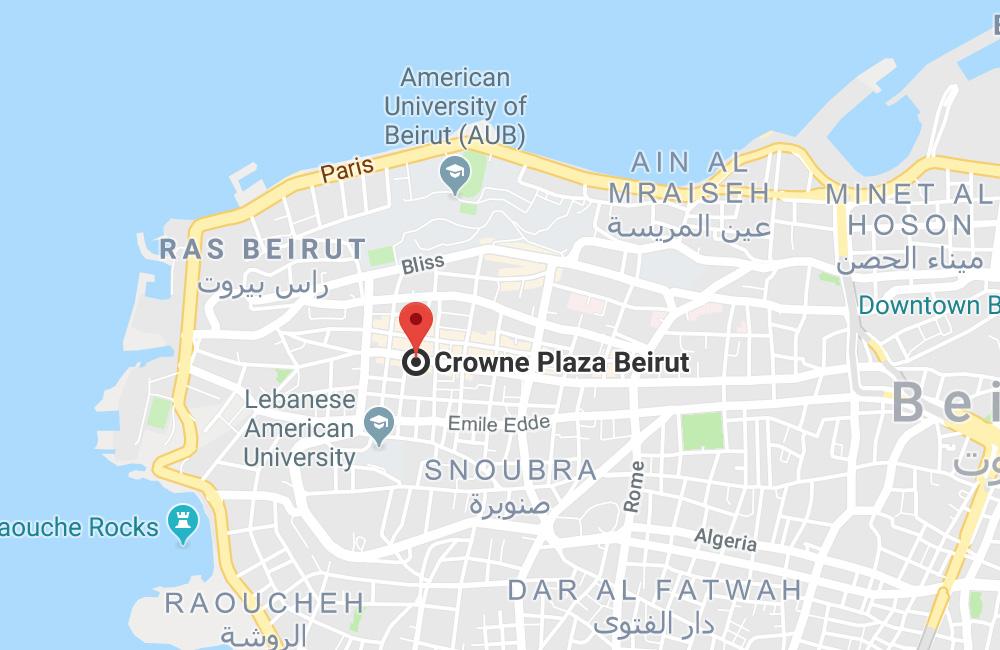 Crowne Plaza Beirut, Hamra Main Street, P.O. Box 113, Beirut, Lebanon