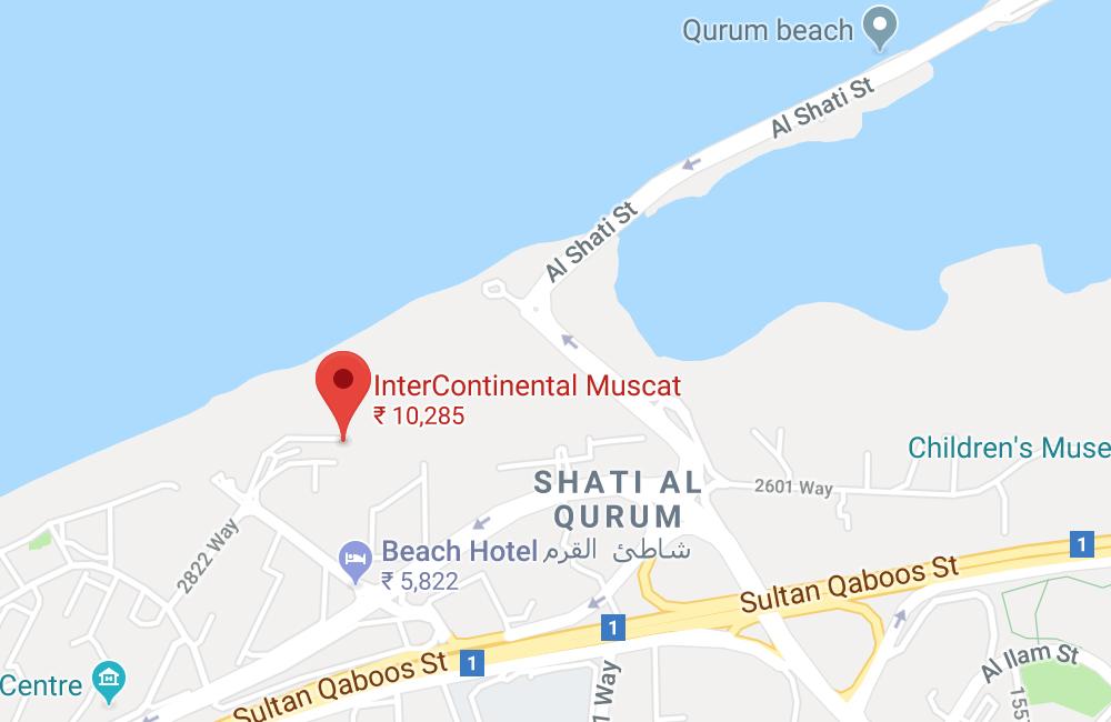 InterContinental Muscat, Al Kharjiya Street, Al Shati Area, Muscat 114, Oman