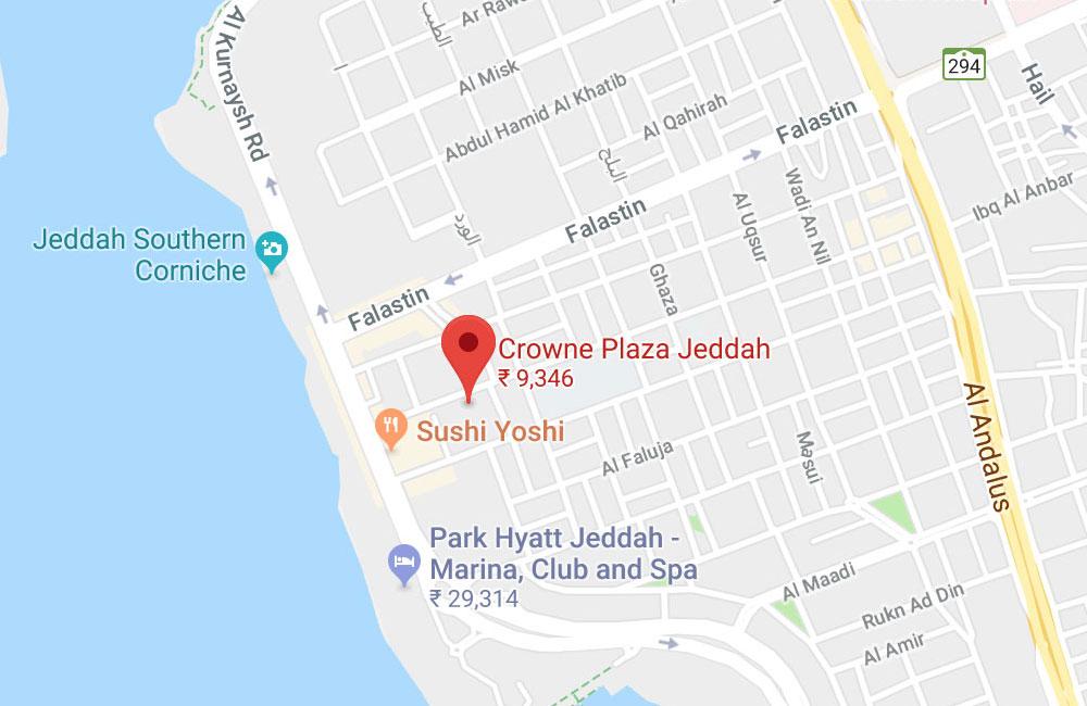 Crowne Plaza Jeddah, Al Corniche- Al Ma'Adi Road, P.O.Box 10924, Jeddah
