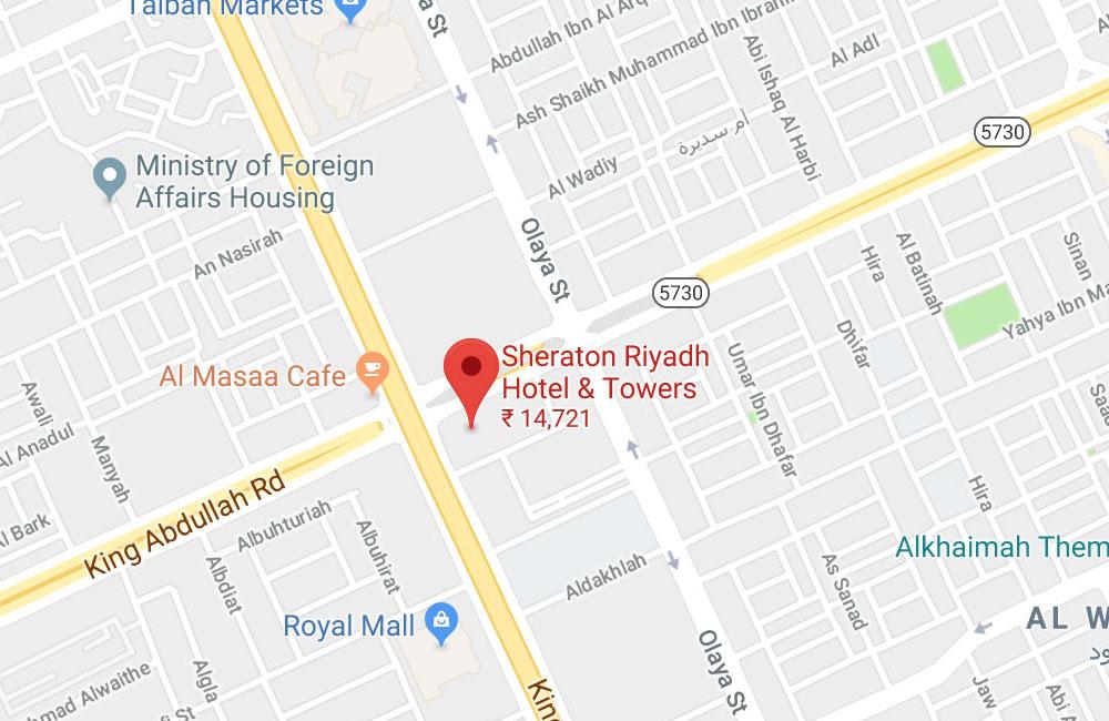 Sheraton Riyadh Hotel & Towers, Olaya Junction of King Fahad and King Abdullah Road, P.O. Box 90807 Riyadh