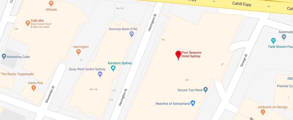 Gallery, Level 2,Four Seasons Hotel Sydney,199 George St,Sydney NSW 2000