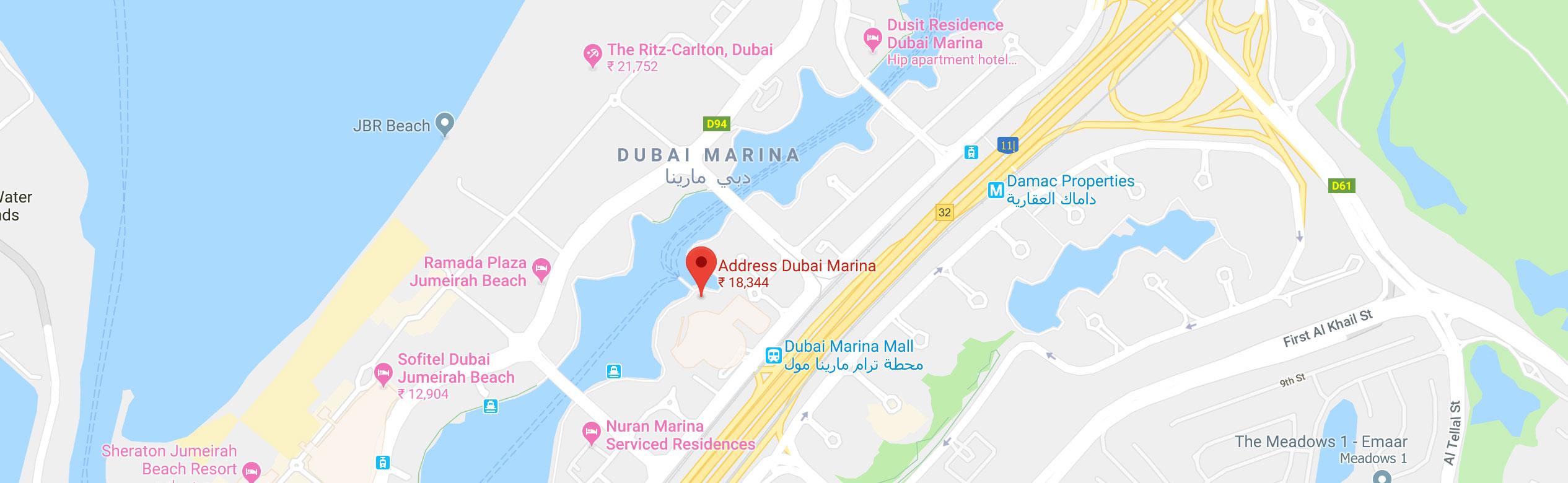Hotel The Address Dubai Marina, Dubai