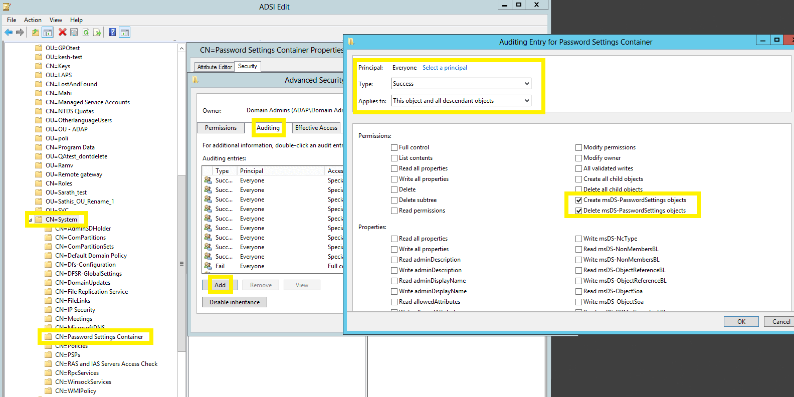 active-directory-audit-configuring-auditing-for-password-setting-objects