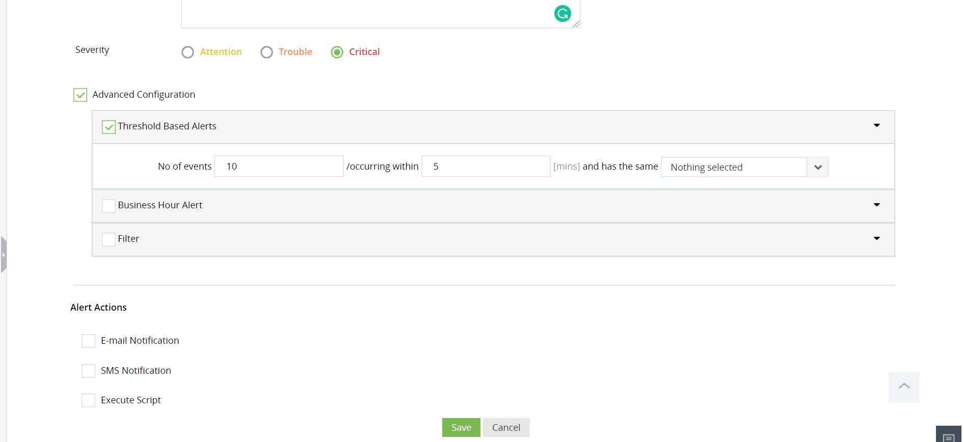 File/Folder changes monitoring