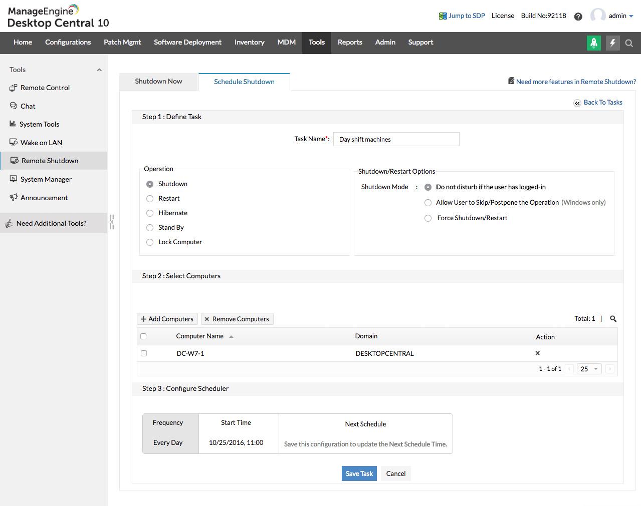 Computer power management software - ManageEngine Desktop Central