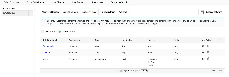 Ajout, modification et suppression de règles de pare-feu - Configure firewall rules ManageEngine Firewall Analyzer