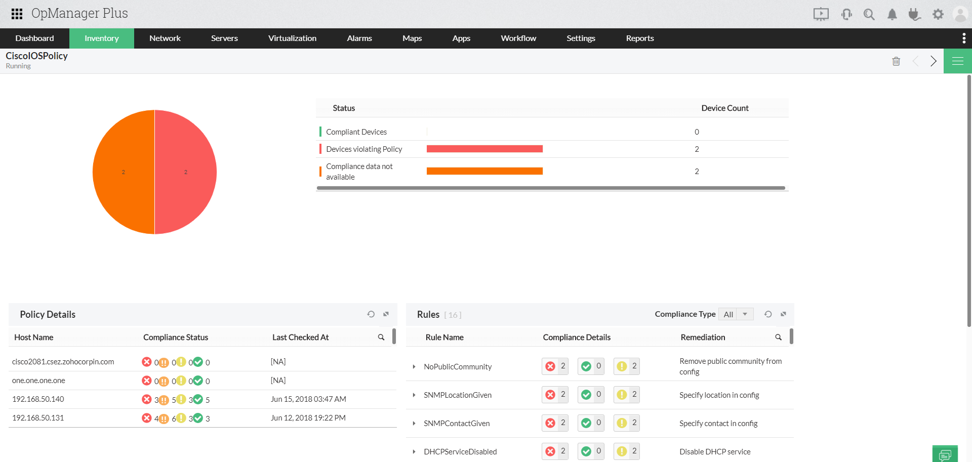IT Infrastructure Management System - ManageEngine OpManager Plus