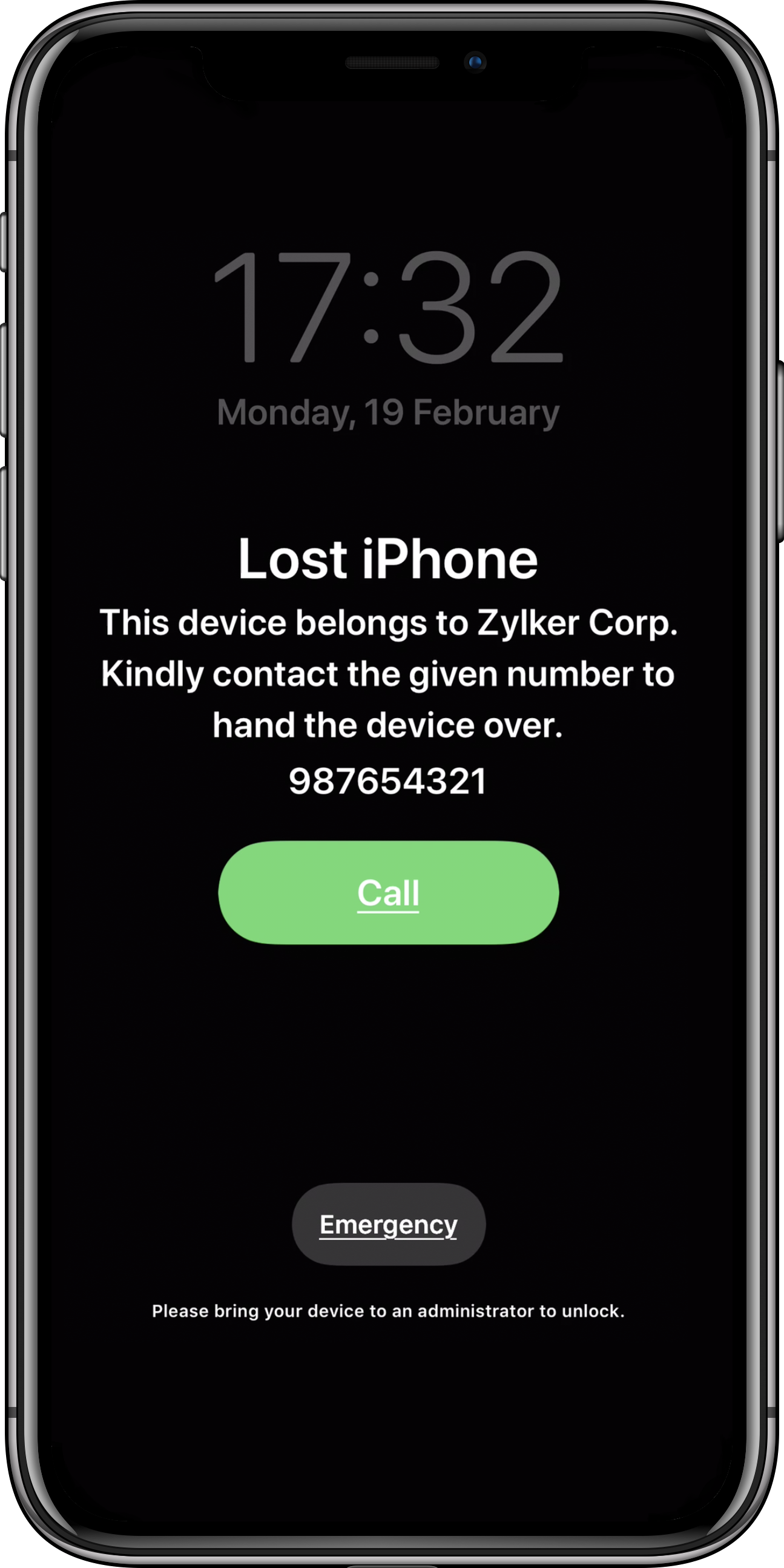 Lost Mode with iPhone/iPad device management software