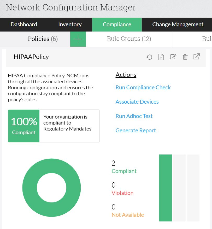 Network Device Configuration Management - ManageEngine Network Configuration Manager