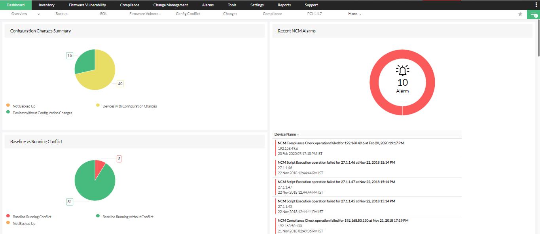 Aruba Configuration Tool - ManageEngine Network Configuration Manager