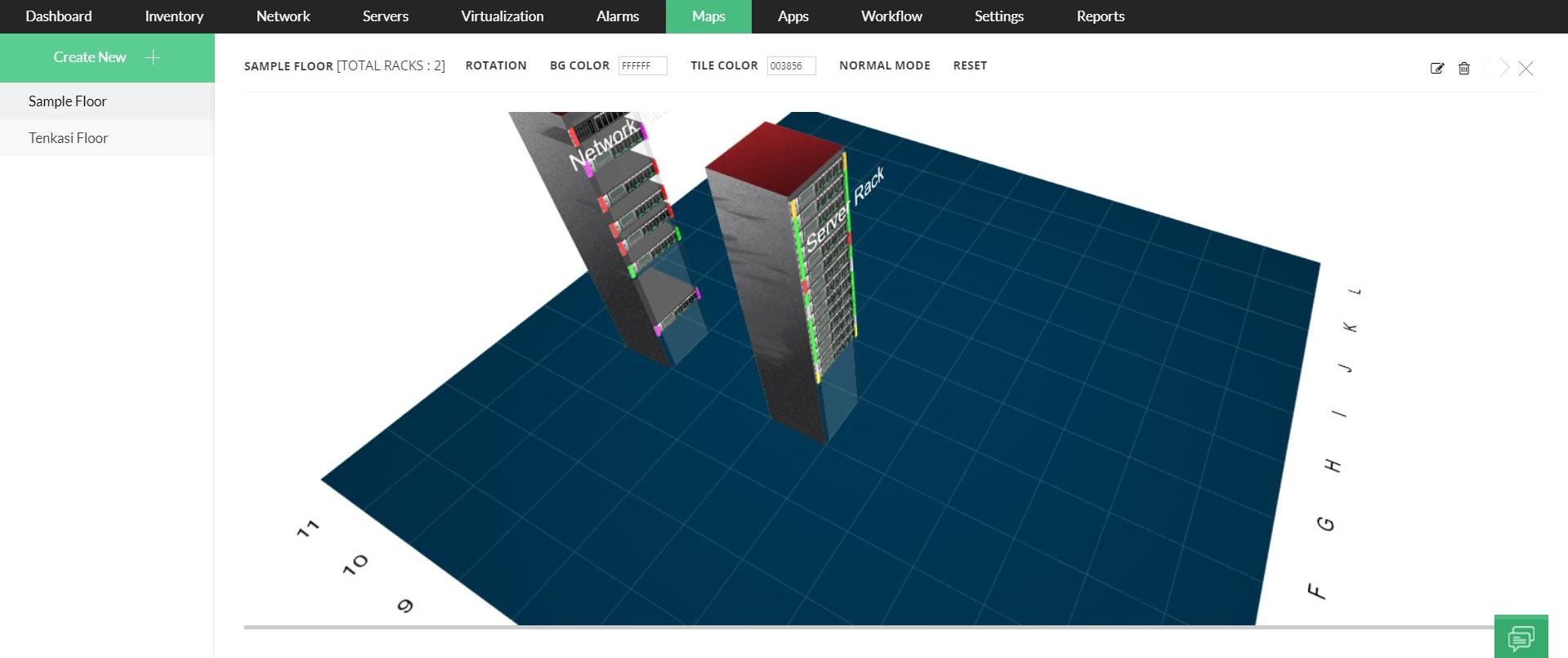 3D Datacenter Floor