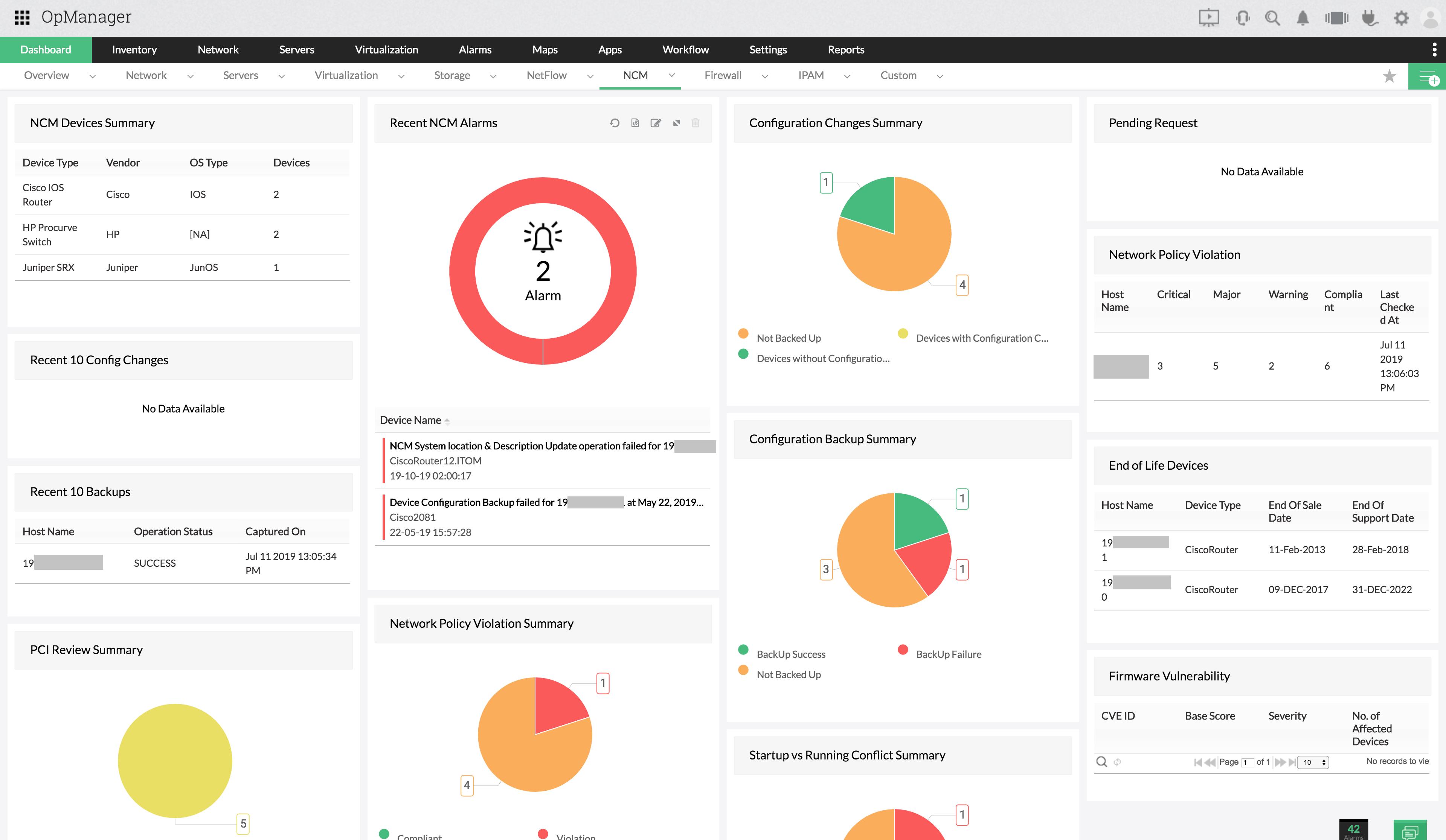 Analysez Surveillez d'autres appareils critiques dans votre centre de données - ManageEngine OpManager