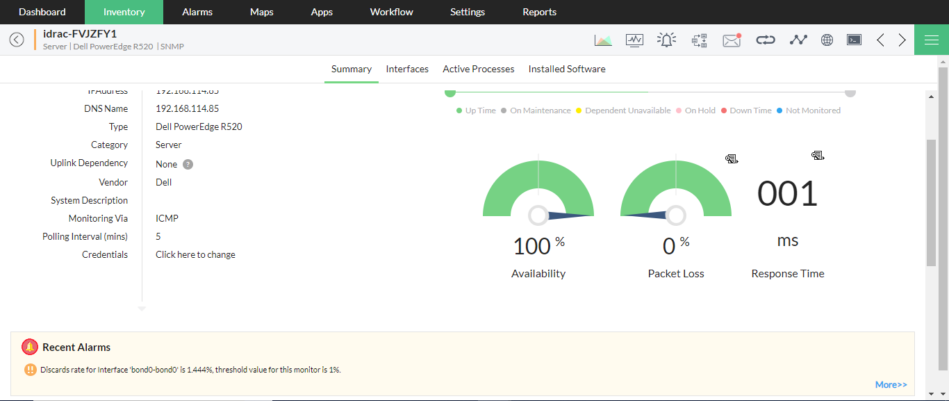 Dell Server Monitoring & Management Software - ManageEngine OpManager