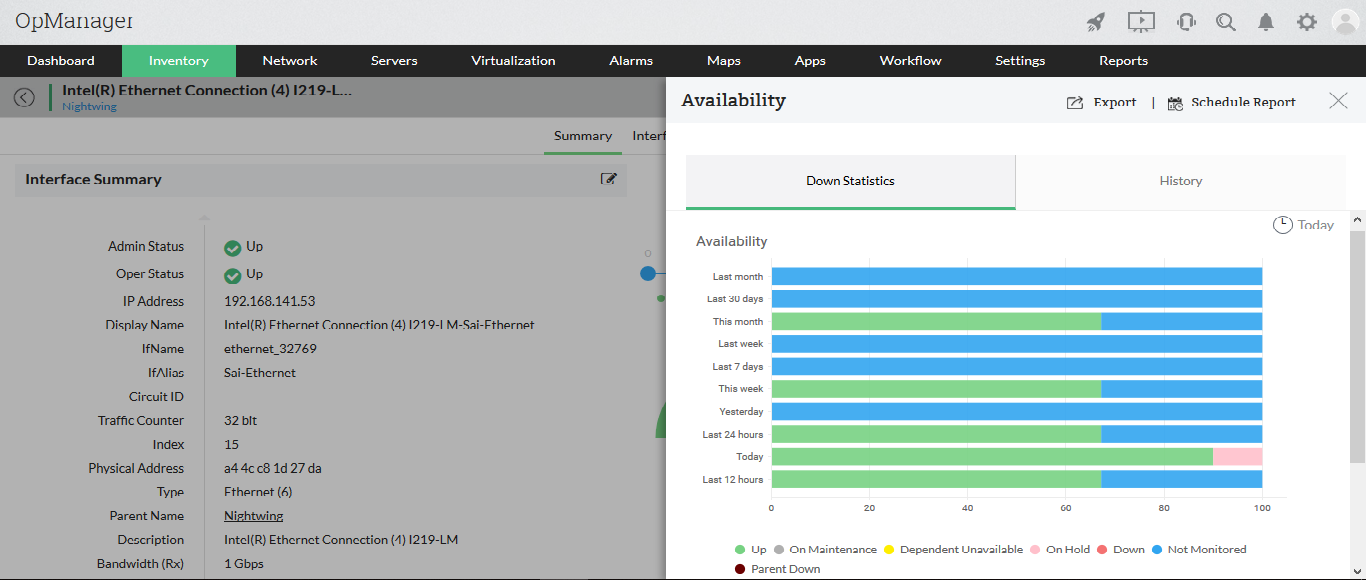 Ethernet Availability Interface