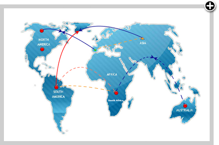 Cartes du réseau mondial